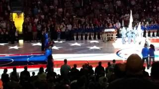 National Anthem before Spurs vs Sixers 12/7/15