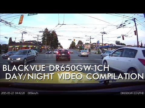 BlackVue DR650GW-1CH WIFI Sample Day/Night Video Compilation - BlackboxMyCar
