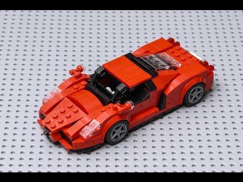 how to make LEGO Ferrari ENZO moc - YouTube