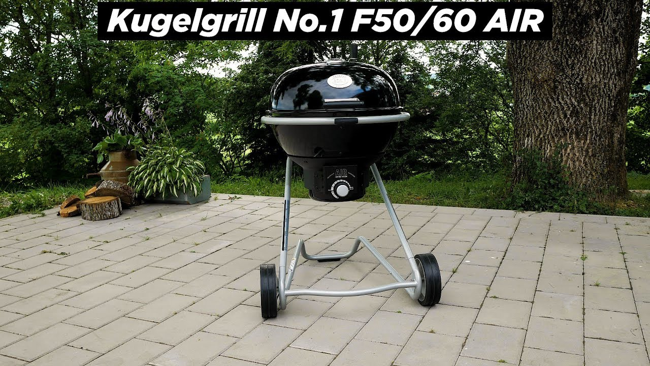 Holzkohle-Kugelgrill No. 1 F50/F60 AIR schwarz