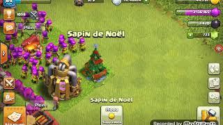 Qu'est ce que cela fait si on enlève le sapin de Noël sur clash of clans