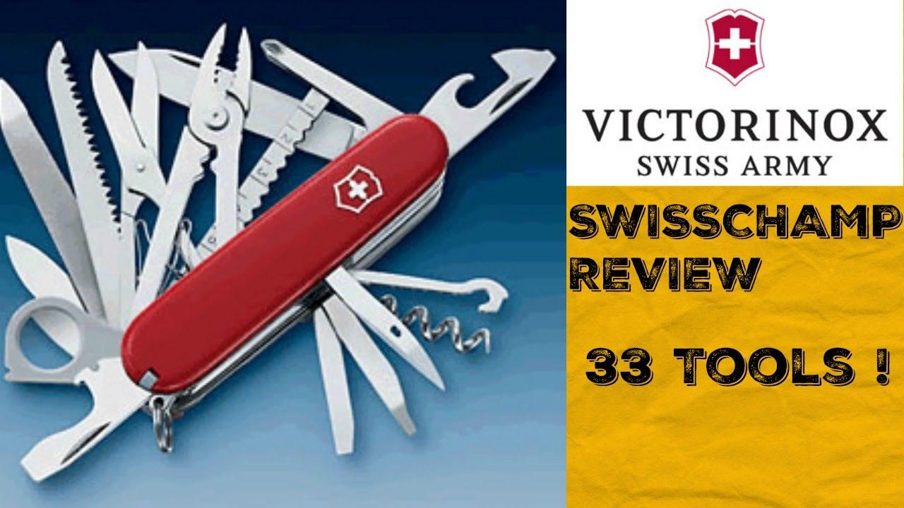 VICTORINOX SWISSCHAMP SWISS ARMY KNIFE REVIEW - YouTube