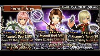 Dissidia Final Fantasy: Opera Omnia - Serah, Aerith & Ace EX ( Atari!? )ヾ(^-^)ノ Event Draw