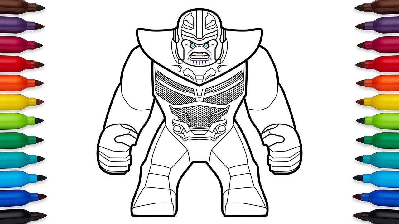 How To Draw Lego Thanos From Marvel S Avengers Infinity War