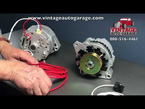 Alternator connection how to connect plug and output wire - YouTubeYouTube