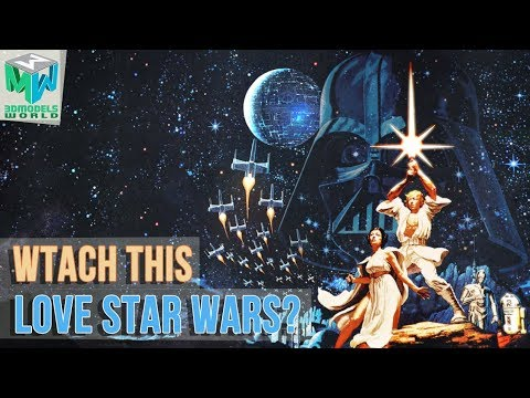 Star Wars A New Hope Classic Poster 3D Animation in Maya -  Must Watch