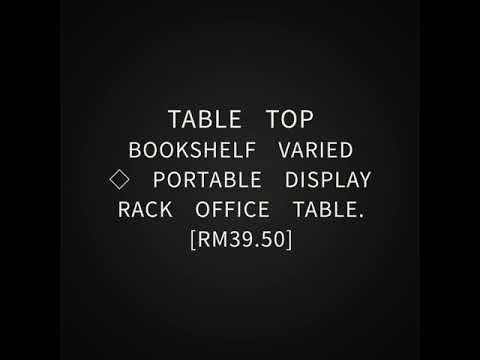 Table Top Bookshelf Varied  Portable Display Rack Office Table.