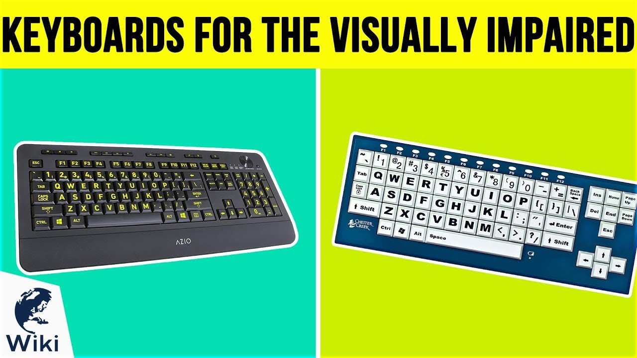 3b1ad578c89 Top 10 Keyboards For The Visually Impaired of 2019 | Video Review