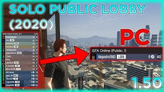 GTA Online - How To Be In A Solo Public Lobby!! *PC ONLY* (1.50)