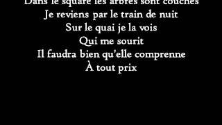 Christophe - Les mots bleus - Paroles