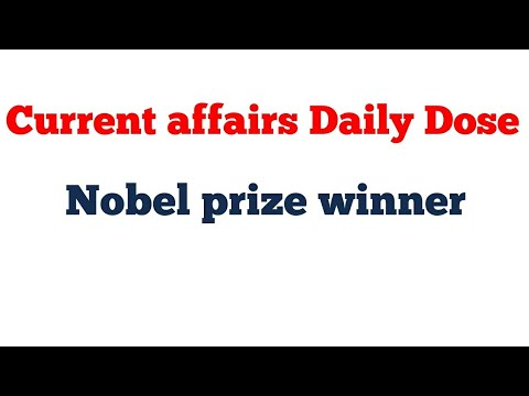 Nobel Prize-2018 # current affairs 2018