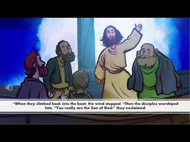 Jesus walks on water video lesson