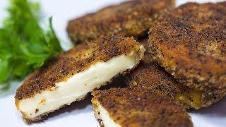 Колбасный сыр в панировке | Жареный сыр | Как жарить сыр | Колбасный сыр