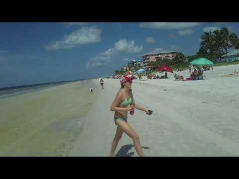 Walking around Fort Myers Beach, Florida