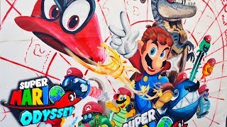 Drawing Super Mario Odyssey - full size - Nintendo Switch - lookfishart