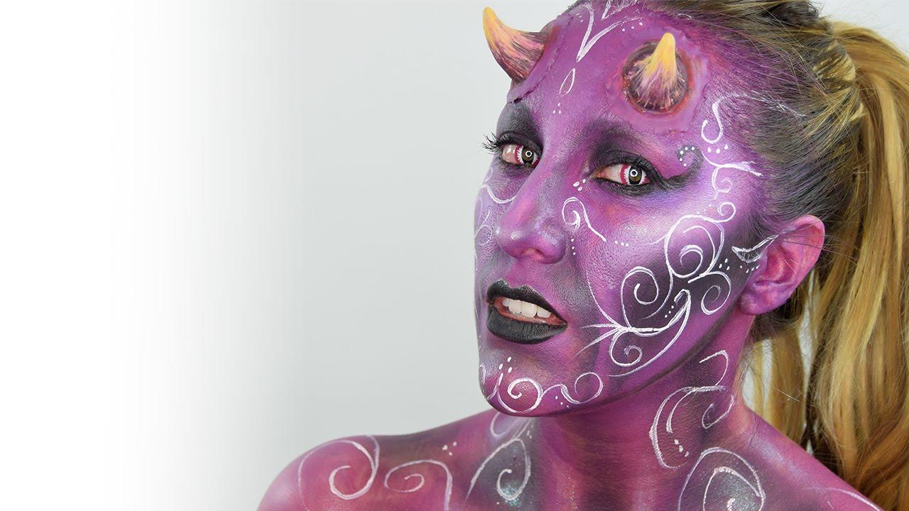 halloween devil makeup maquillaje diablesa youtube
