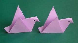оригами птица, как сделать оригами птицу // origami bird