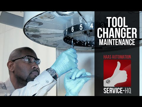 CT STYLE Umbrella/Carousel Tool Changer Maintenance - Haas Automation  Service Video
