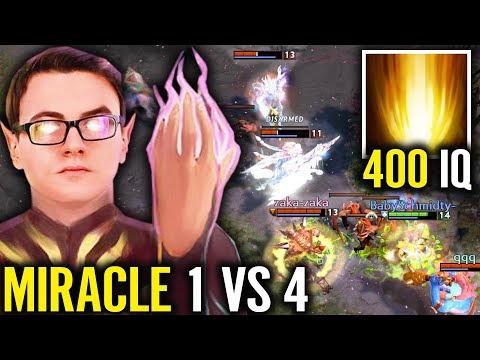 Exort Invoker Is BACK!! 1 vs 4 Play 400 IQ Sun Strike KS Gameplay by Miracle Dota 2