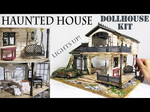 DIY Miniature Haunted House (lights up!)