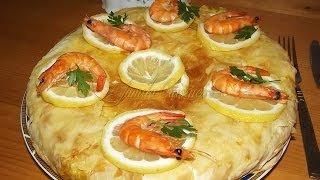 Pastilla / Placinta marocana cu creveti si pui | JamilaCuisine