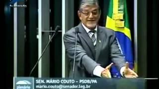 Senador chama Dilma de mentirosa e cara de pal , Lula de sem Vergonha - Mário Couto