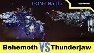 Horizon Zero Dawn - Thunderjaw VS Behemoth (Horizon Fight Club #19)