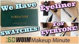 Anastasia Subculture Palette SWATCHES! + NYX Releases 7 NEW Eyeliners! | Makeup Minute