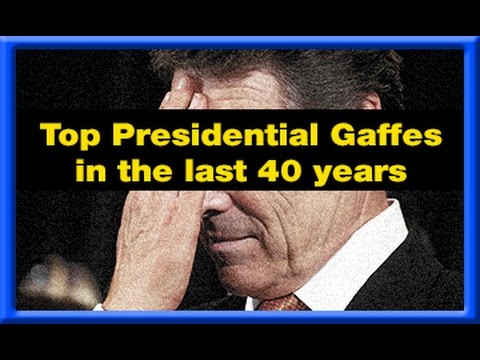 The Top Presidential Gaffes In The Last 40 Years - MyxTV