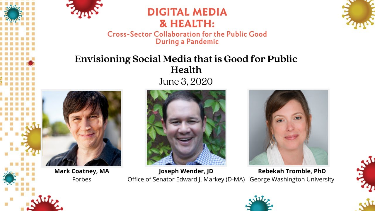 Plenary VII: Envisioning Social Media that is Good for Public Health
