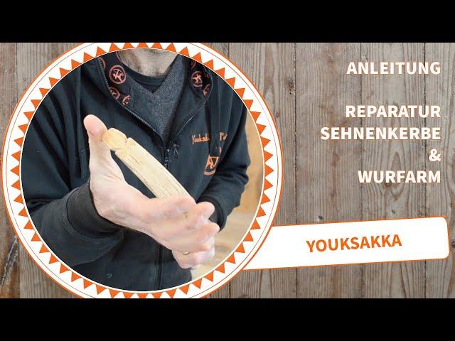 Anleitung Bogen Reparatur an der Sehnenkerbe oder dem Wurfarm