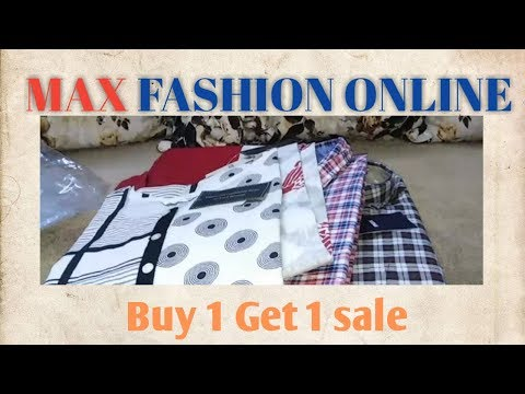 Max Fashion Online Sale BUY 1 GET 1 (kurtis And Men's Casual Shirts).. Review In Telugu