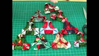 Fabric Origami Christmas tree