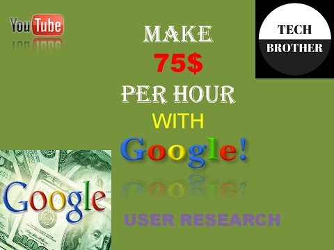 How to 75$ per hour from google user research in Hindi|Online Work From Home Job|