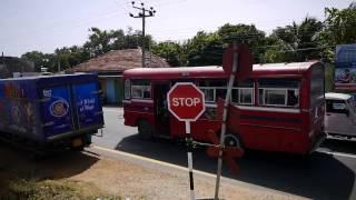 Train from Vauniya to Jaffna, Sri Lanka 2015 バブニヤからジャフナへの列車