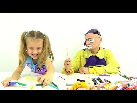 Andrew der Clown – Mal sehn wer besser malen kann – Andrew oder Xenia?!