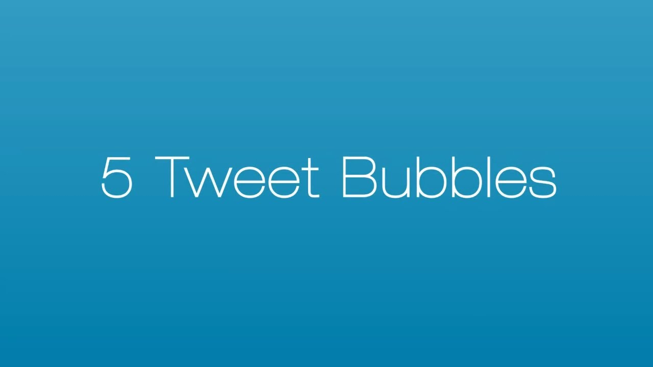 Twitter Template | Twitter Tweet Bubbles Message After Effects Template Youtube