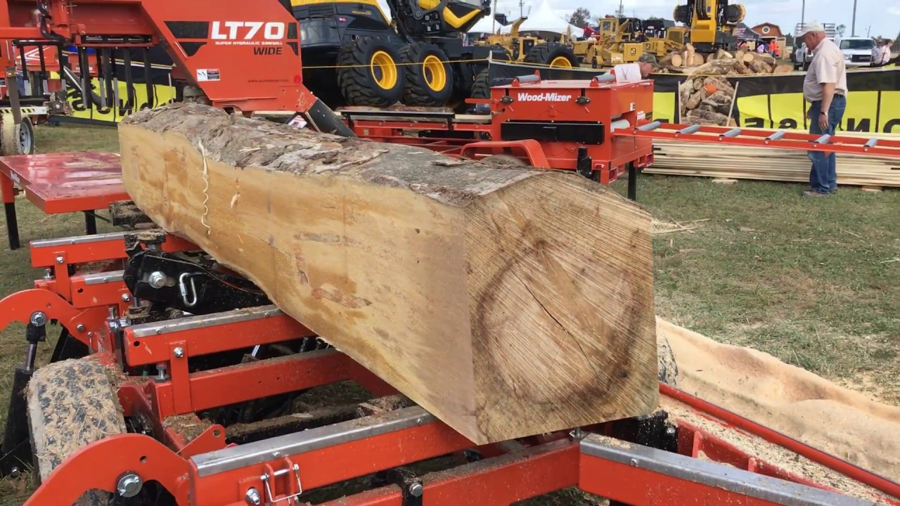 Wood-Mizer LT70 Super Sawmill Wide at Paul Bunyan Forestry Show October 2017