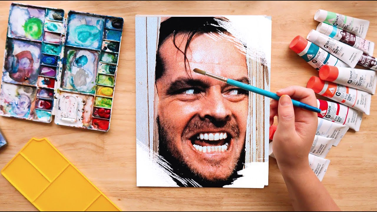 Painting The Shining. Horror movie paintings.  'Episode 1 The Shining'