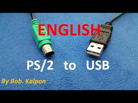 PS2 to USB how to convert a mouse PS/2 - YouTube