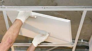 видео Реечный потолок в ванной комнате: цена за м2 алюминиевого и монтаж панелей