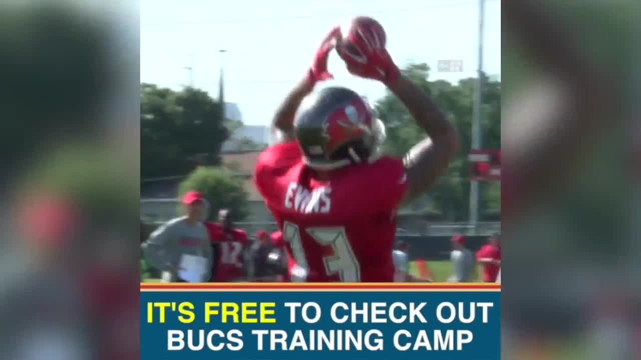 fans gear up for tampa bay buccaneers training camp youtube