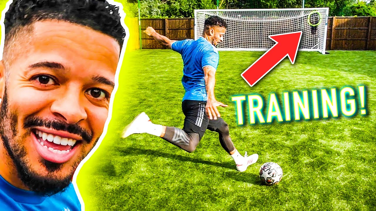 FIRST EVER TRAINING SESSION IN MY GARDEN PROFESSIONAL FOOTBALL PITCH 🔥⚽️