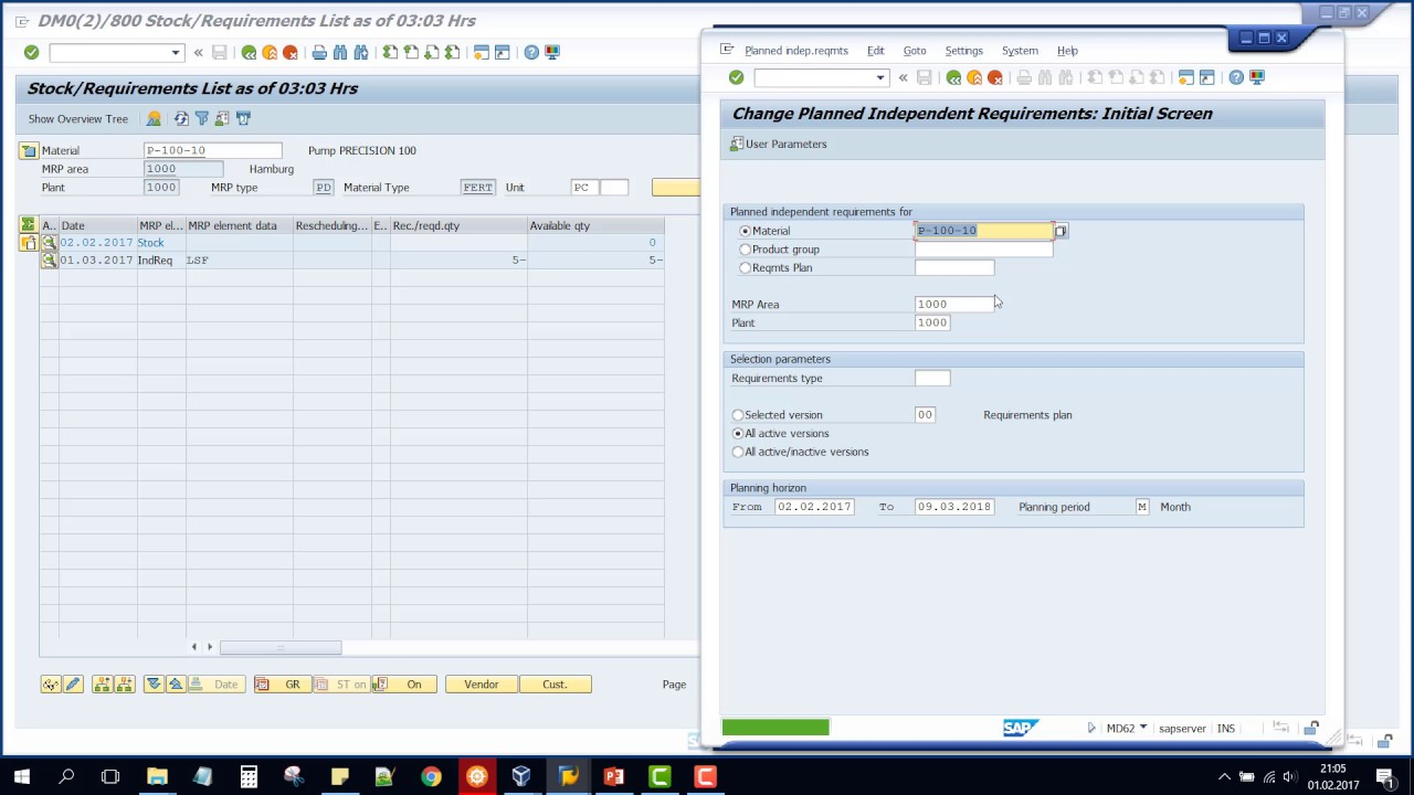 medium resolution of sap pp malzeme htiya planlamas mrp md01 mp4