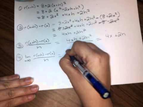 (HW7,#4) The four-step process for r(x) = 8 + 2x^2