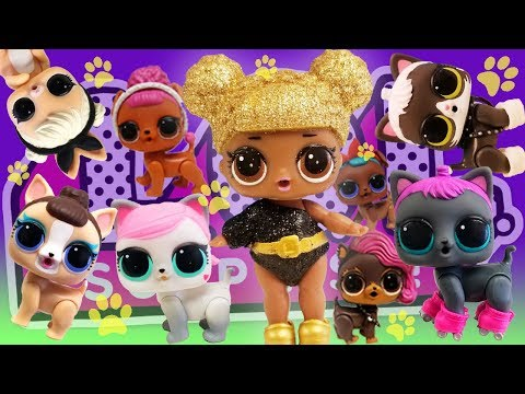 LOL Surprise Dolls Adopt Pets! Featuring Glitter Series Queen Bee, Super BB and LOL Surprise Pets!