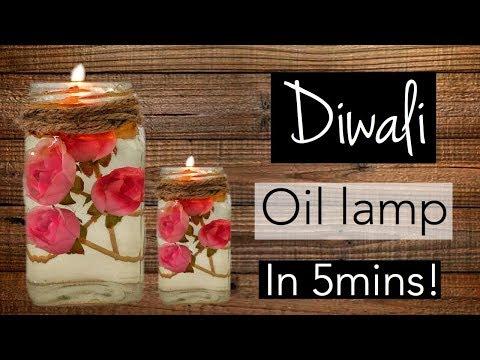 How to make decorative DIWALI OIL LAMP (diya) at home // EASY & QUICK