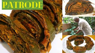 How to prepare PATRODE with COLOCASIA LEAVES & MILLETS    Dr. SARALA