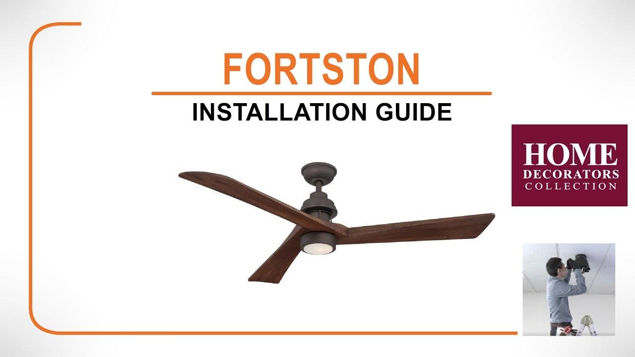Fortston ceiling fan installation guide youtube fortston ceiling fan installation guide mozeypictures Gallery