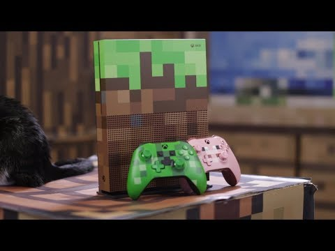 Xbox One S Minecraft Limited Edition Bundle Unboxing